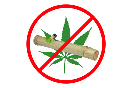 dissuade: Public relations for campaign No Drug with Marijuana. It was confiscated by the police and this photo was shot at the police station.