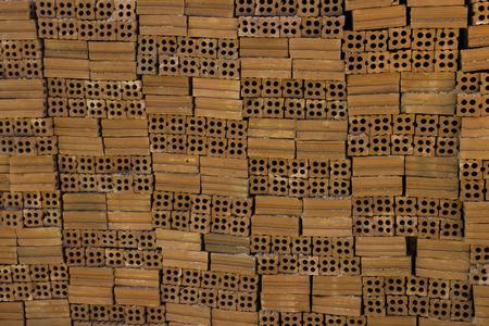 redbrick: Building bricks stone redbrick Stock Photo