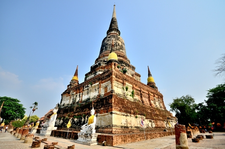 historic site: historic site at Ayutthaya, thailand Stock Photo