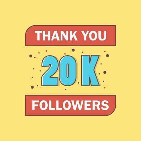 20k followers, Thank You, social sites post.