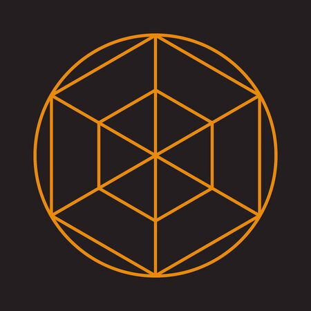 Abstract sacred geometry for background