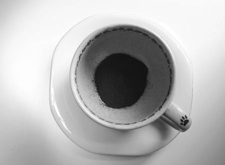 blackwhite: A cup with instant coffee, black&white