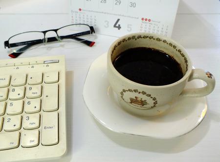 tarde de cafe: Descanso de la tarde con una taza de caf� Foto de archivo