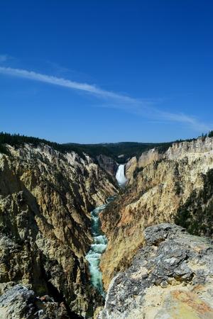 lower yellowstone falls: Lower Falls Canyon, Yellowstone National Park
