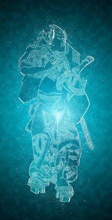 The Samurai of the frozen feeling