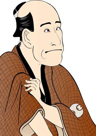 Kabuki actor of the townman man