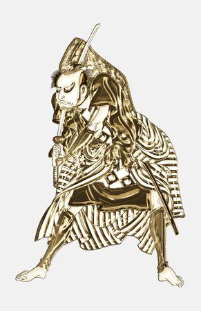 The Samurai Shining in Gold