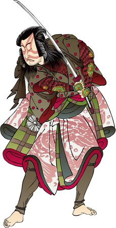 a kabuki actor with a sword