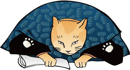 un chat qui est apersonnisé et qui s'incline Vecteurs