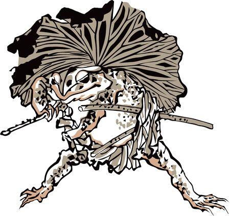 Anthropomorphic Samurai  イラスト・ベクター素材