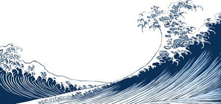 Japanese-style waves