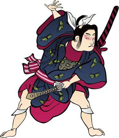 A child imitating Kabuki
