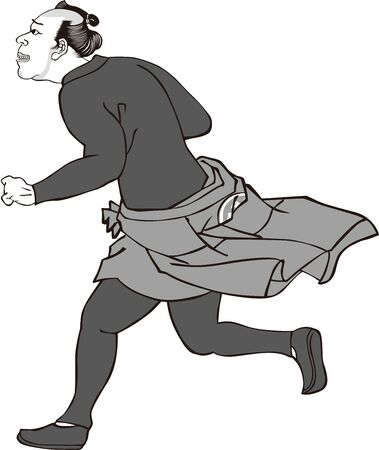 a running man seen from the side