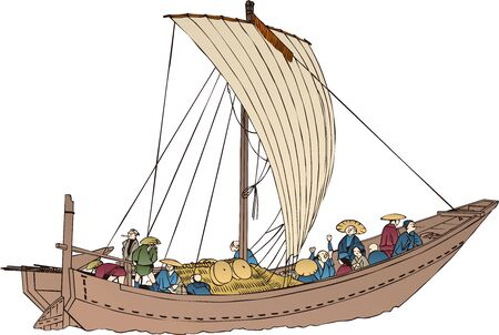 a ship that travels in a wooden wind