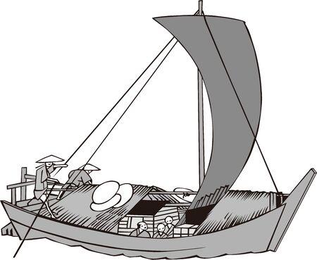 Barcos de madera en Japón