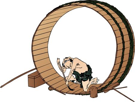 a carpenter making barrels