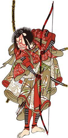 a samurai with a bow and arrow