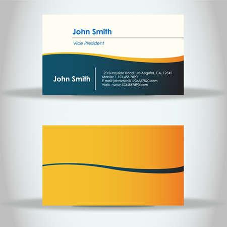 Unique Business Card Design Zdjęcie Seryjne - 17772207