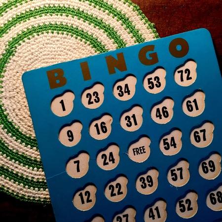 Vintage bingo card Reklamní fotografie
