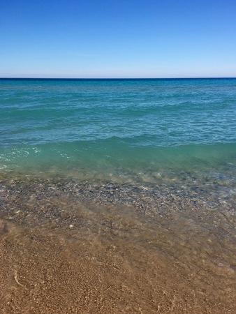 Turquoise waters of Lake Michigan, at Empire, Michigan
