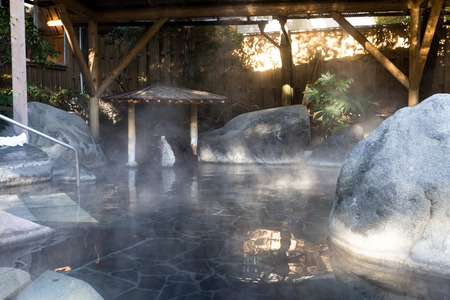 Onsen in Japan with natural hot spring water 新闻类图片