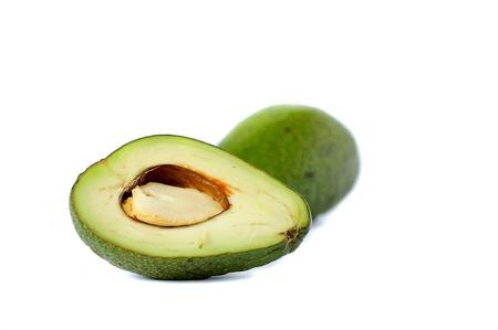 avocados on white background