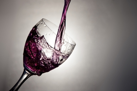 wine glass with purple liquid. abstract Stock Photo