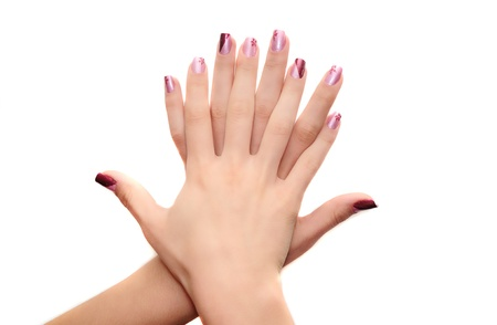 womans hands with nice manicured nails