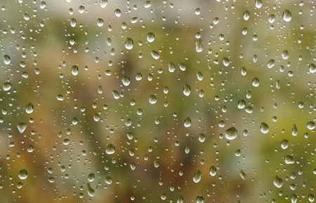 raindrops on window nice bokeh in background