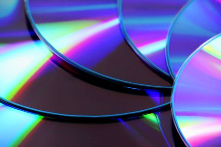 dvds: Closeup of DVDs in a fan layout Stock Photo