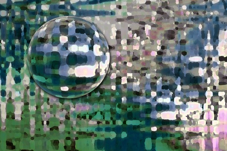 Colorful geometric abstract floating orb