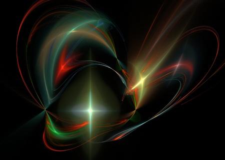 Abstract fractal starburst illustration on black
