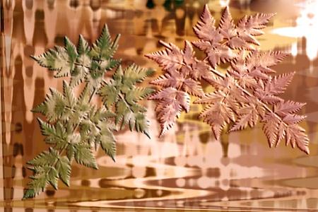 Abstrakcyjne tło z liści jesienią