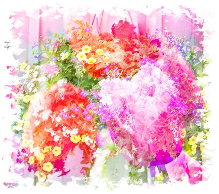 Abstract illustration of spring flowers Stock Photo