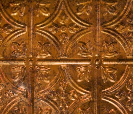shiny: closeup view of shiny copper wall tile Stock Photo