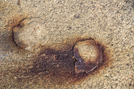 Closeup view of rusty patch on concrete Stock Photo