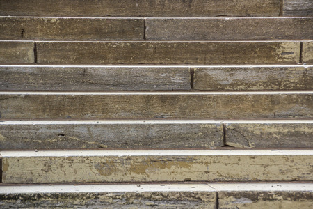 Closeup view of worn out stone stairs