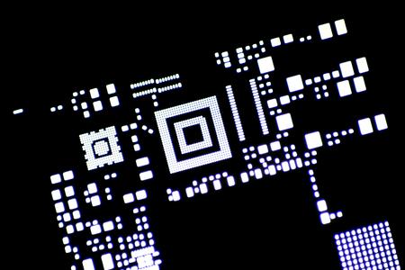 Electronics manufacturing solder paste stencil lighten from behind.