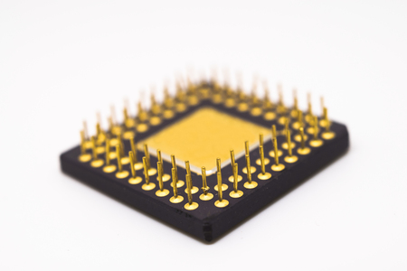 Semiconductor on white background. Stock Photo