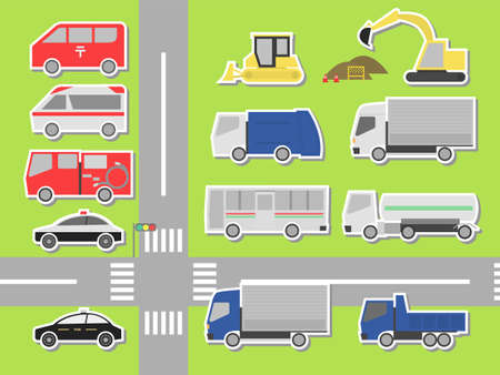 Vector illustration set of 12 different cars.