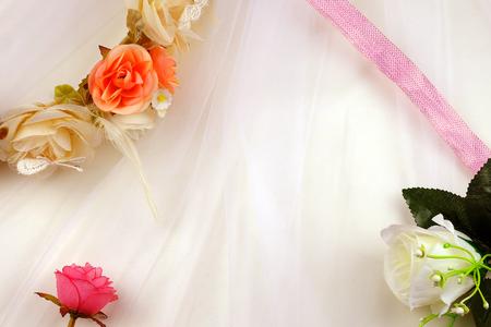 romantic: Wedding  romantic background with roses Stock Photo
