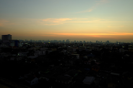 evening sky: Evening sky colors Stock Photo