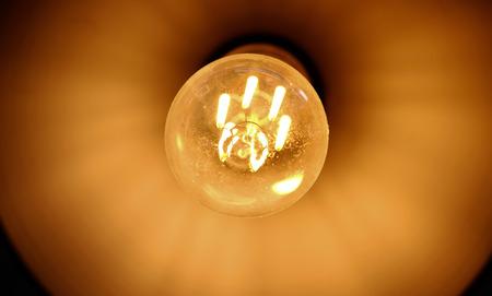 Sluit omhoog lamp voor achtergrond. (Selectieve nadruk) Stockfoto
