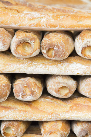 boulangerie: french baguette traditional stack tower loaf paris