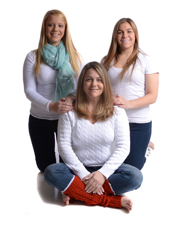 three generations of women: Family portrait