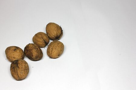 Walnuts on white background Stock Photo - 131958035