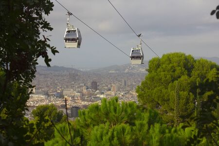 View on Barcelona from Montjuic 스톡 콘텐츠 - 131956690