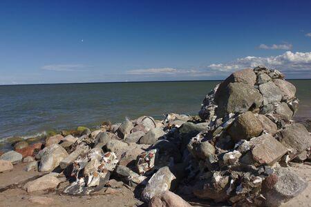 Rocks at the beach in Latvia