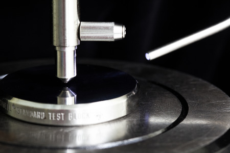 Calibration hardness testing machine