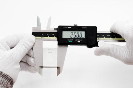 calibration: Calibration digital VERNIER with gage block